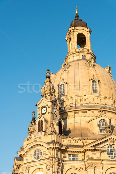 The famous Church of our Lady in Dresden Stock photo © elxeneize