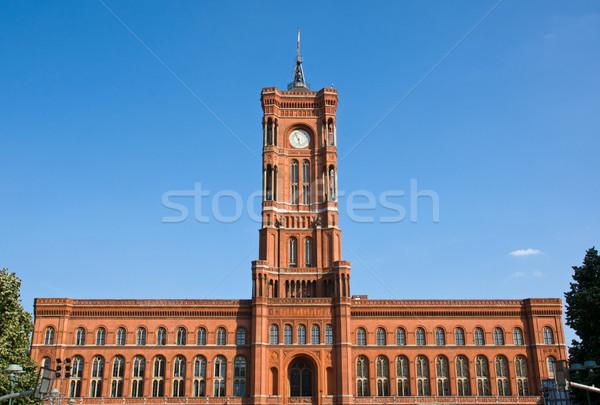 ベルリン 建物 クロック 旅行 赤 レンガ ストックフォト © elxeneize