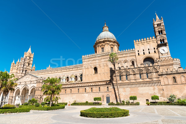 The beautiful cathedral of Palermo Stock photo © elxeneize
