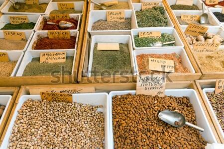 öntet pisztácia kukorica vásár piac rizs Stock fotó © elxeneize