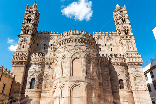 Backside of the cathedral in Palermo Stock photo © elxeneize
