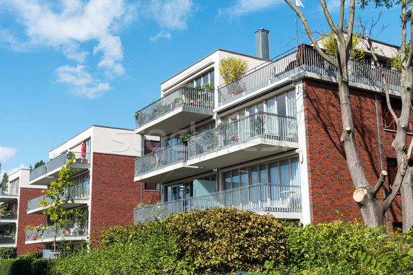 Stock photo: Modern apartment houses in Berlin