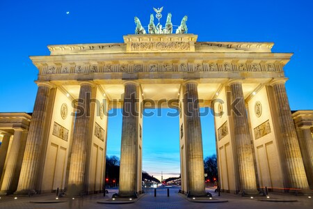 The Brandenburger Tor at sunset Stock photo © elxeneize