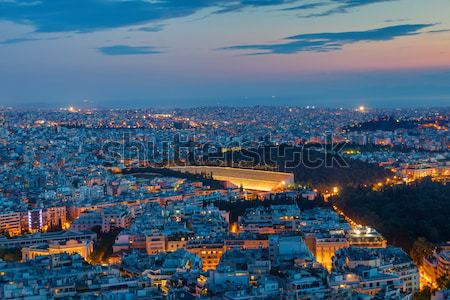Athens with the old olympic stadium Stock photo © elxeneize