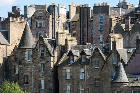 épületek belváros Edinburgh királyi utca építészet Stock fotó © elxeneize
