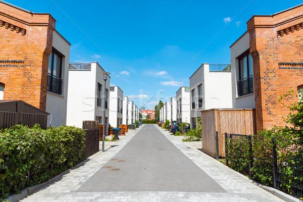 新しい ベルリン ドイツ 建設 通り ホーム ストックフォト © elxeneize