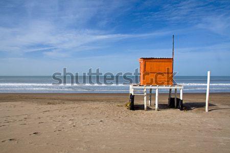 Stock fotó: úszómester · villa · argentín · tengerpart · nap · nyár