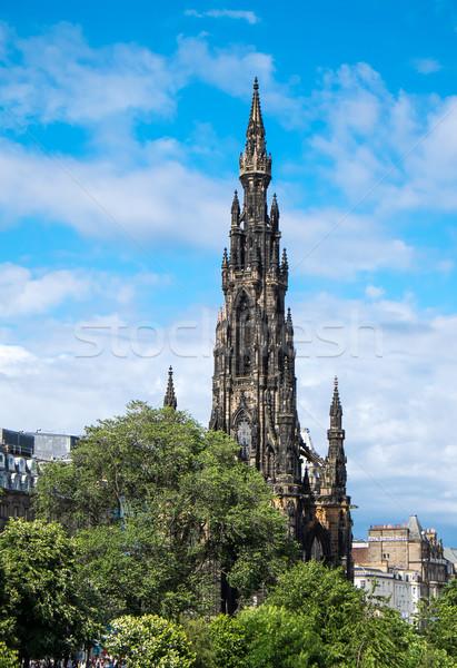 Эдинбург башни Шотландии каменные Готский Европа Сток-фото © elxeneize