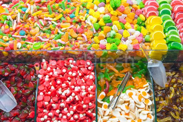 Nagyszerű választás cukorka piac Isztambul Törökország Stock fotó © elxeneize
