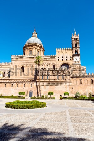 The huge cathedral of Palermo Stock photo © elxeneize
