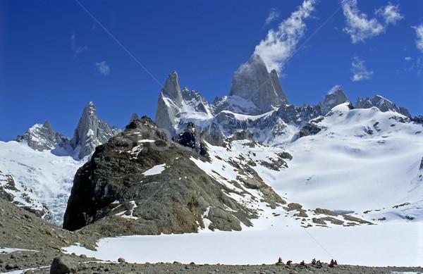 Stock fotó: Panoráma · argentín · tájkép · hó · hegy · jég