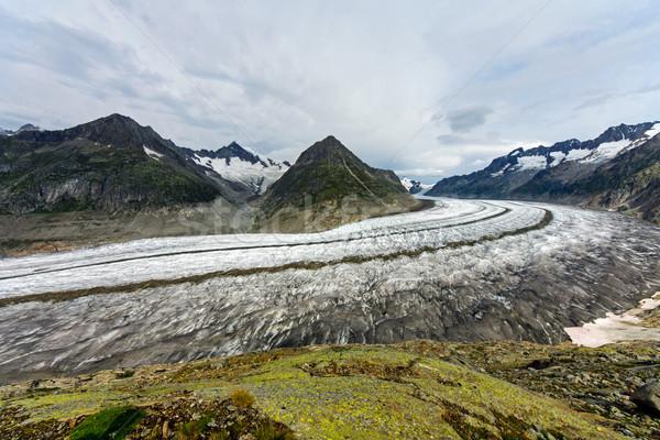 Groot gletsjer alpen Europa hemel wolken Stockfoto © elxeneize