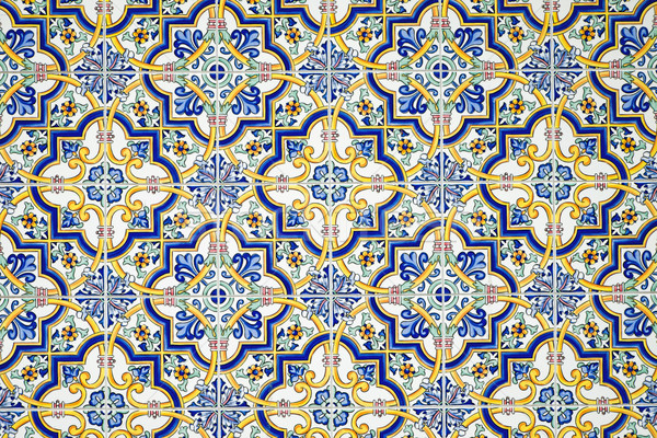 Typical andalusian tiled wall Stock photo © elxeneize