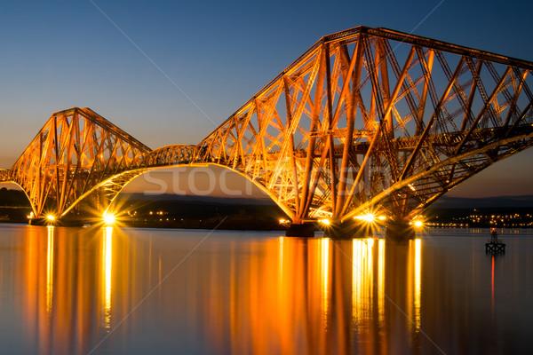 The Forth rail bridge at dawn Stock photo © elxeneize