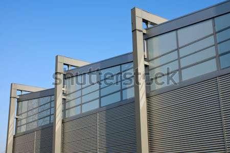 Modern facade of an industrial building Stock photo © elxeneize