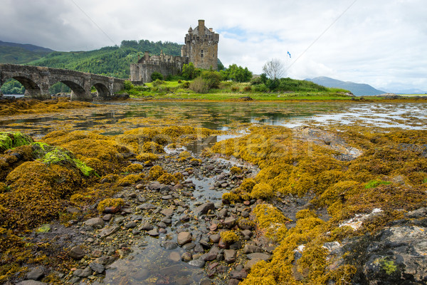 Eilean Donan castle on a rainy day Stock photo © elxeneize
