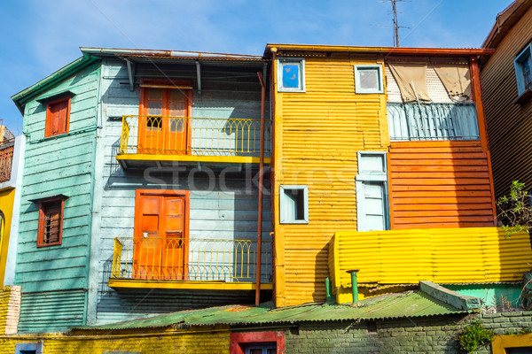 Colorido casas la Buenos Aires Argentina céu Foto stock © elxeneize