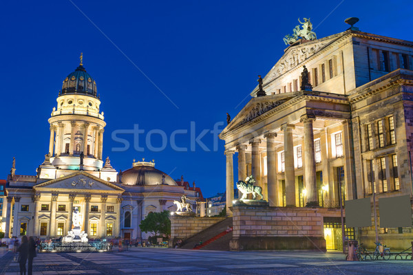 The Gendarmenmarkt at night Stock photo © elxeneize