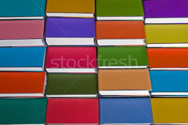Colourful background from books Stock photo © elxeneize