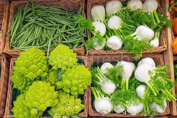 фенхель брокколи продажи рынке продовольствие фон Сток-фото © elxeneize