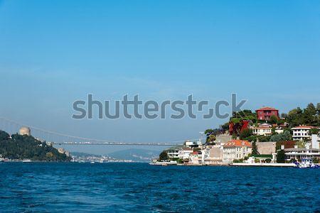 Isztambul házak part második híd távolság Stock fotó © elxeneize