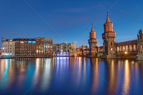 Oberbaum Bridge and River Spree Stock photo © elxeneize