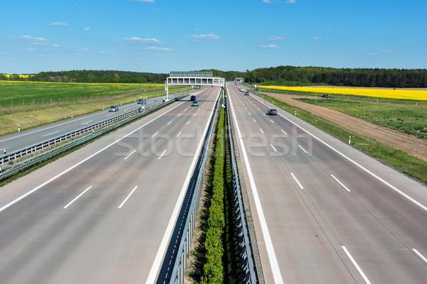 Stock photo: German motoway on a sunny day