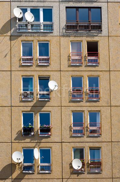 建物 業界 具体的な 衛星 皿 ストックフォト © elxeneize