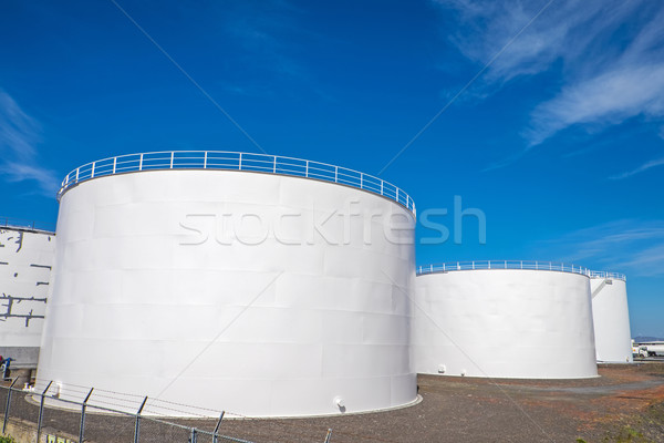 Gas storage tanks in Reykjavik Stock photo © elxeneize