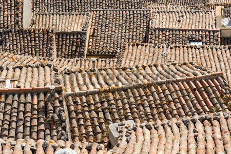 The roofs of Gangi in Sicily Stock photo © elxeneize