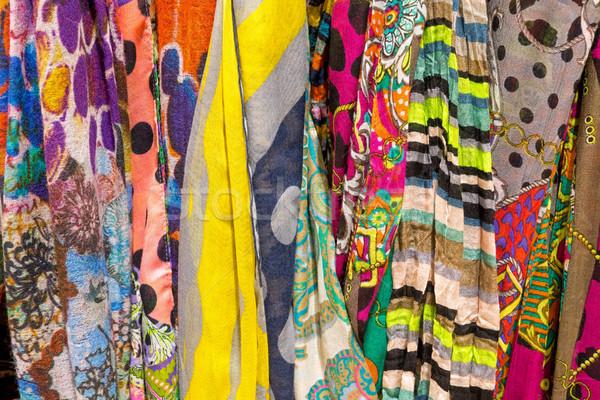 Colourful drapery for sale Stock photo © elxeneize