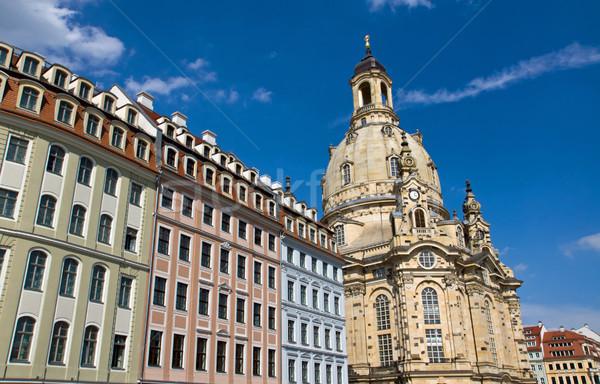Beautiful houses around the Frauenkirche Stock photo © elxeneize