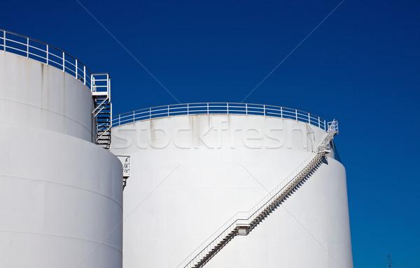 White storage tanks Stock photo © elxeneize