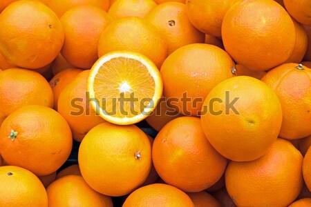 Ripe oranges for sale Stock photo © elxeneize