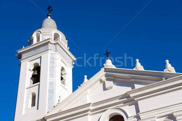 Templom Buenos Aires égbolt város városi történelem Stock fotó © elxeneize