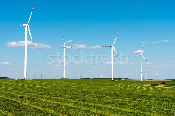 Mezők vidéki Németország természet fák kék Stock fotó © elxeneize