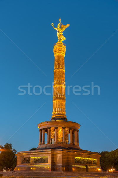 Vitória coluna Berlim noite edifício cidade Foto stock © elxeneize