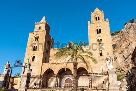 Katedrális Szicília Olaszország épület kék istentisztelet Stock fotó © elxeneize