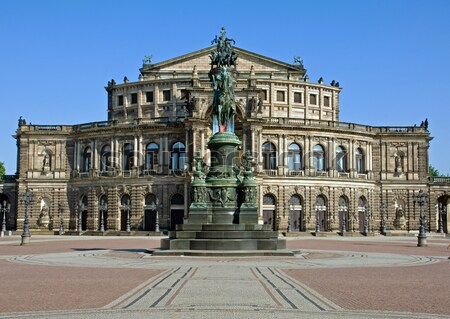 The famous Semper opera in Dresden Stock photo © elxeneize