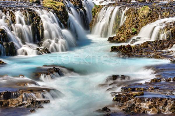 Detay çağlayan İzlanda su doğa manzara Stok fotoğraf © elxeneize