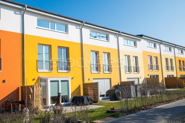 Stock photo: Colorful terraced housing in Berlin