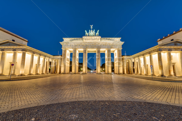 The Brandenburger Tor at night Stock photo © elxeneize