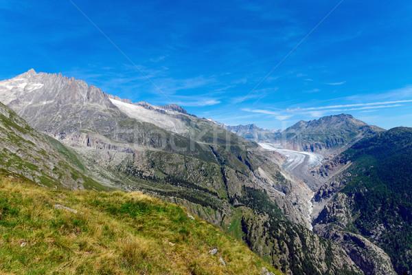 Montagna ghiacciaio bella scenario cielo natura Foto d'archivio © elxeneize