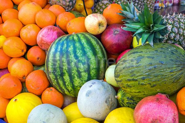 Tropikal meyve mango karpuz taze Stok fotoğraf © elxeneize