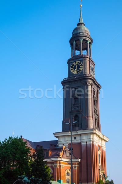 The tower of St. Michaelis church Stock photo © elxeneize