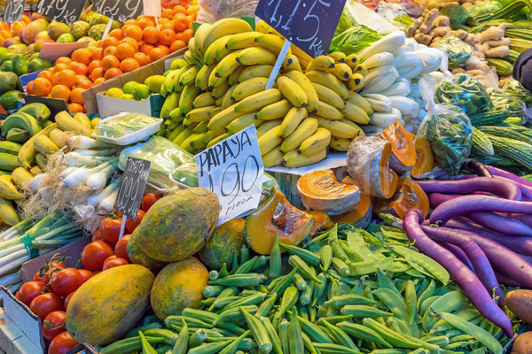 Fruits and vegetables for sale  Stock photo © elxeneize