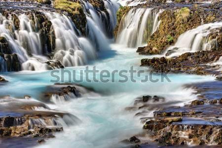 Vízesés részlet Izland tájkép folyó hullám Stock fotó © elxeneize