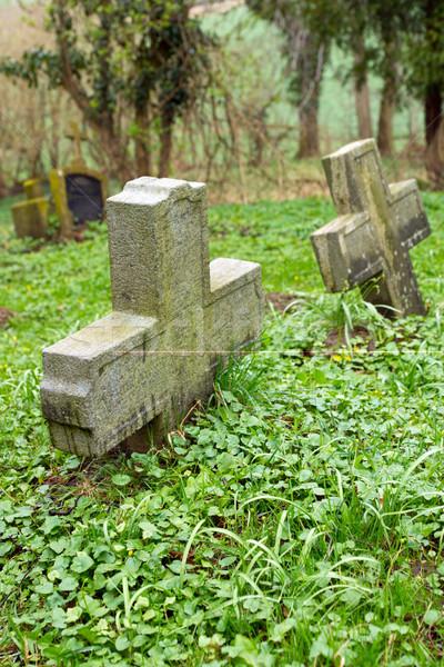 Two stone crosses Stock photo © elxeneize