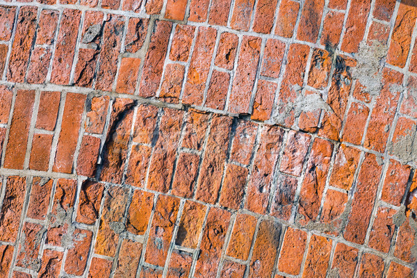 Rough red brickwall  Stock photo © elxeneize