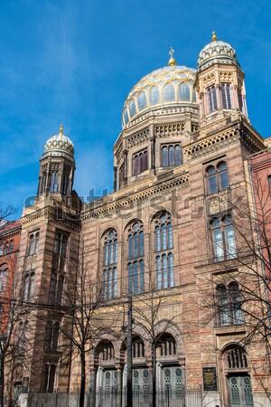 Beautiful New Synagogue in Berlin Stock photo © elxeneize